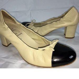 Attilio Giusti Leombruni block heel pumps 38.5 8